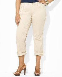 Lauren Ralph Lauren Plus Cuffed Chinos