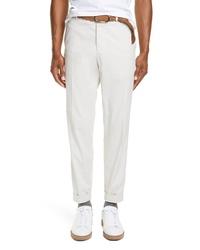 Brunello Cucinelli Stretch Gabardine Cotton Trousers