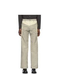 Kiko Kostadinov Taupe And Beige Riding Claw Trousers