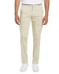 Nordstrom Trim Straight Leg Stretch Chino Trousers