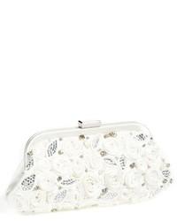 Belen rosette bridal clutch ivory medium 518323