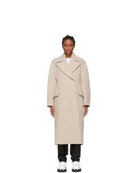 Acne Studios Beige Boiled Wool Olaila Coat