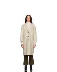 Harris Wharf London Beige Pressed Virgin Wool Great Coat