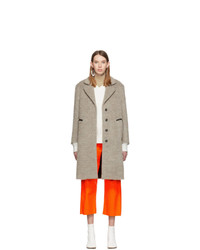 MM6 MAISON MARGIELA Beige Wool Melange Coat