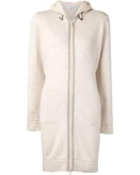 Brunello Cucinelli Hooded Zip Cardi Coat
