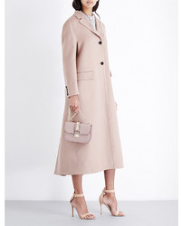 Valentino Buttoned Cuff Wool And Cashmere Blend Coat