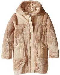 Chloe Kids Hooded Faux Fur Coat Girls Coat