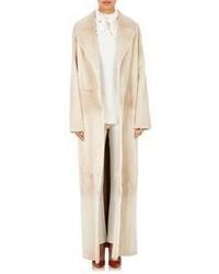 The Row Fur Terete Coat Nude