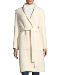 Halston Heritage Boiled Wool Car Coat