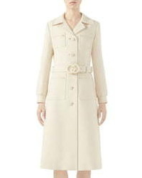 Gucci Interlocking G Belt Wool Coat