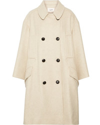 Etoile Isabel Marant Isabel Marant Toile Flicka Double Breasted Wool Blend Coat Ecru