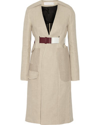 Victoria Beckham Jute And Silk Blend Canvas Trench Coat