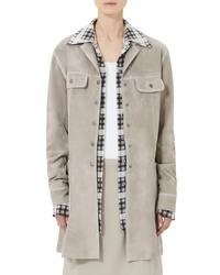 Marc Jacobs Martingale Belt Suede Coat