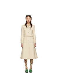 Gucci Off White Wool Coat