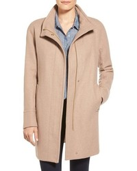 Petite wool blend stadium coat medium 366097