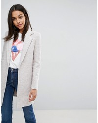 Asos Slim Coat In Texture