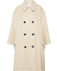 Etoile Isabel Marant Toile Isabel Marant Flicka Double Breasted Wool Blend Coat Ecru