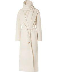 The Row Tooman Cashmere And Wool Blend Coat And Scarf