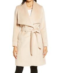 Cole Haan Wool Alpaca Blend Wrap Coat