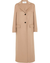 Valentino Wool And Cashmere Blend Coat Neutral