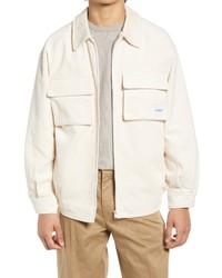 Topman Corduroy Zip Through Jacket