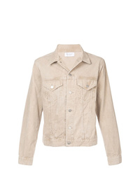 Beige Corduroy Shirt Jacket