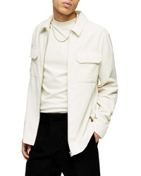 Topman Corduroy Zip Overshirt