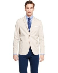 Beige Cotton Blazer