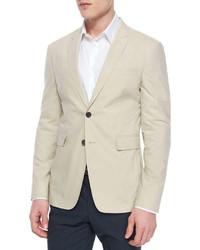 Burberry London Modern Fit Cotton Sport Coat Khaki