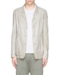 Attachment Ruche Sleeve Cotton Nylon Blazer