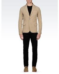 Armani Jeans Single Breasted Blazer In Needlecord