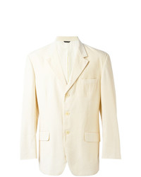 Moschino Vintage Three Button Blazer Nude Neutrals
