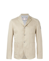 Moncler Gamme Bleu Three Button Blazer Nude Neutrals