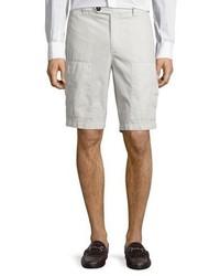 Brunello Cucinelli Cotton Cargo Shorts Neutral