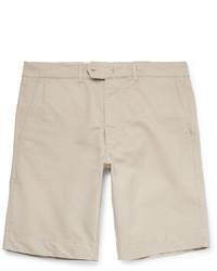 Officine Generale Fisherman Cotton Twill Shorts
