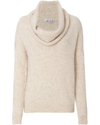 Beige Cowl-neck Sweater