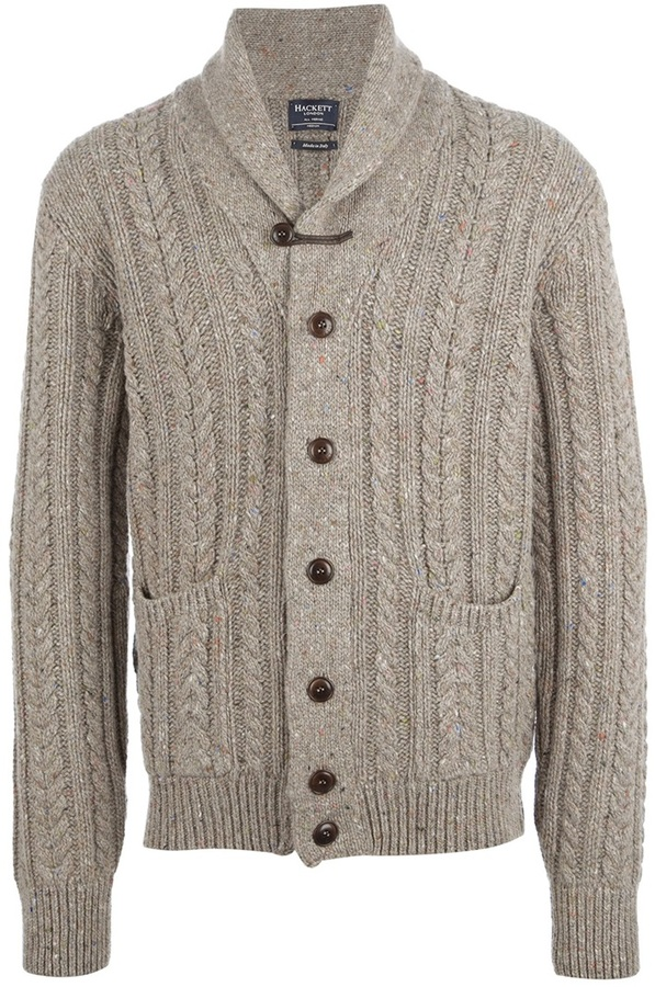 Hackett Cable Knit Cardigan
