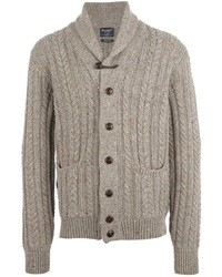 Hackett cable knit cardigan medium 7227