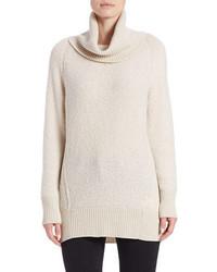 Oro cowl neck boucle sweater medium 350785
