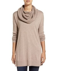 Side slit cowl neck tunic medium 6843177