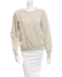 3.1 Phillip Lim Sheer Accented Wool Sweater