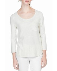 Lilla P 34 Sleeve Scoop Neck Sweater