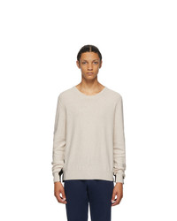 Maison Margiela Beige And Black Gauge 12 Split Sweater