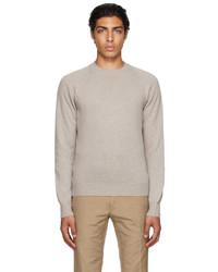 Tom Ford Beige Cashmere Crewneck Sweater