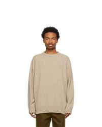 Acne Studios Beige Crew Neck Sweater