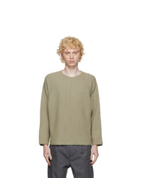 Homme Plissé Issey Miyake Beige Knit Rustic Sweater