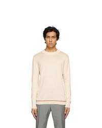 Maison Margiela Beige Mock Neck Sweater