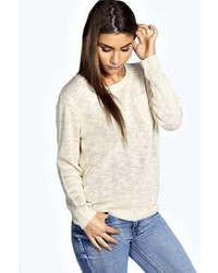 Boohoo Eliana Zip Back Slub Knit Jumper