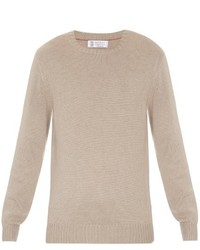 Brunello Cucinelli Crew Neck Wool Blend Sweater