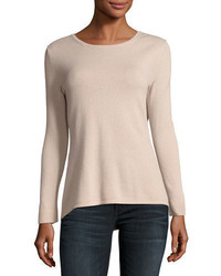 Neiman Marcus Cashmere Collection Cashmere Crewneck Sweater